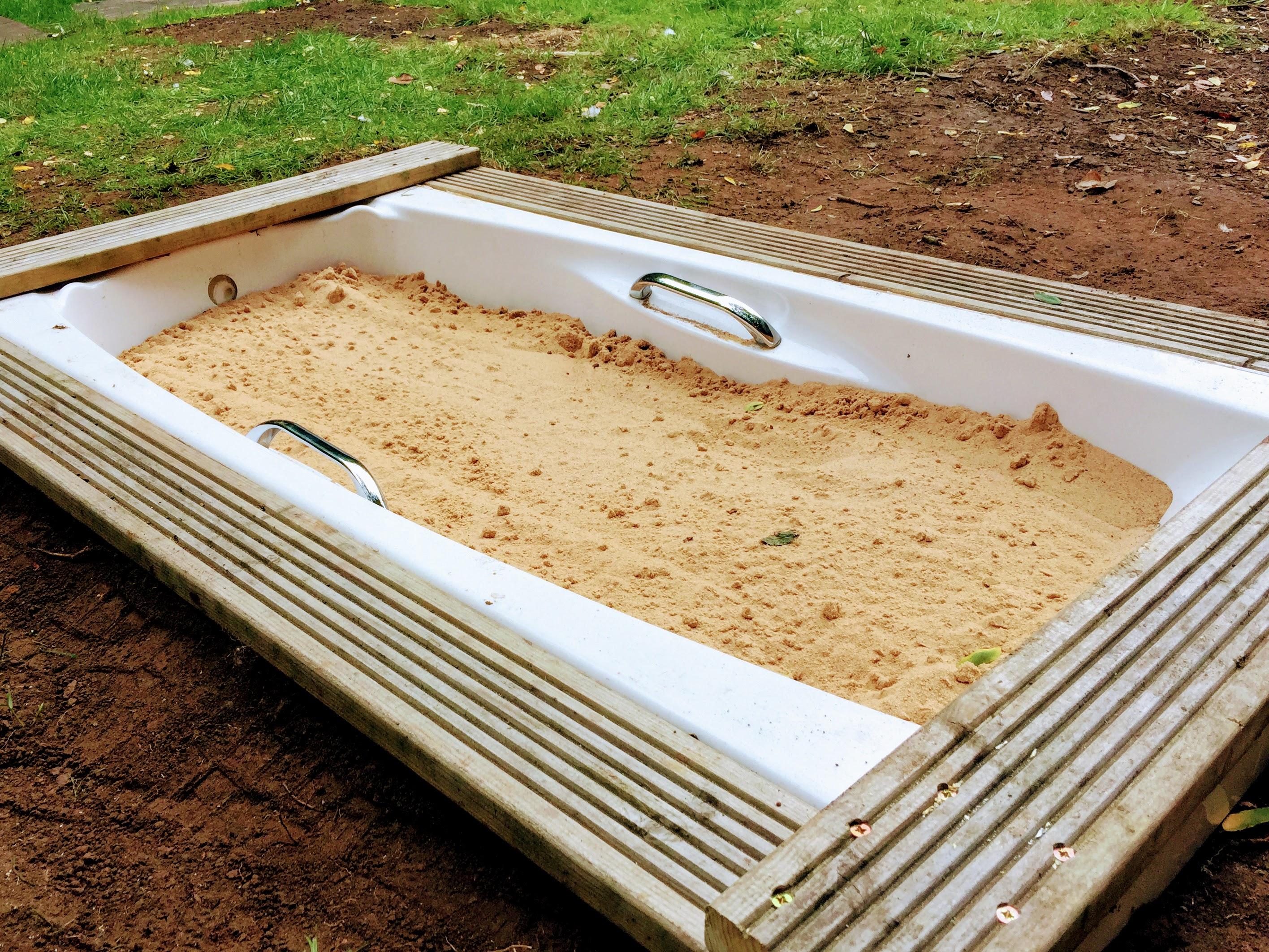 Garden Outdoor Sandpit Bath